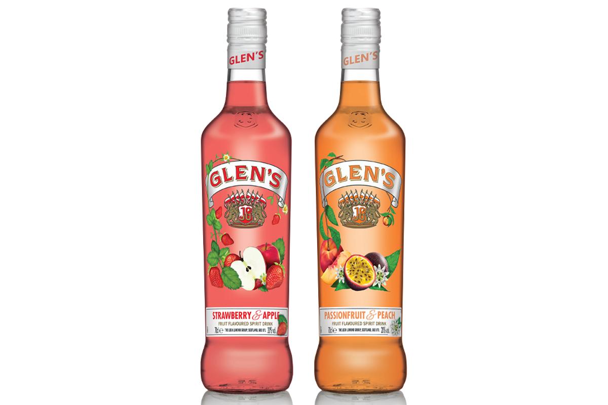 Glens Vodka 70cl strawberry & passionfruit bottles