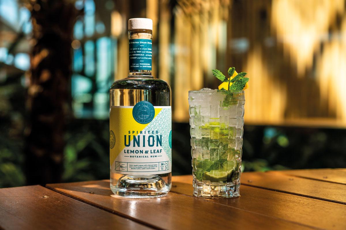 Union lemon and leaf rum